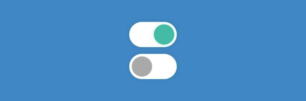 Toggle switch states in UX design