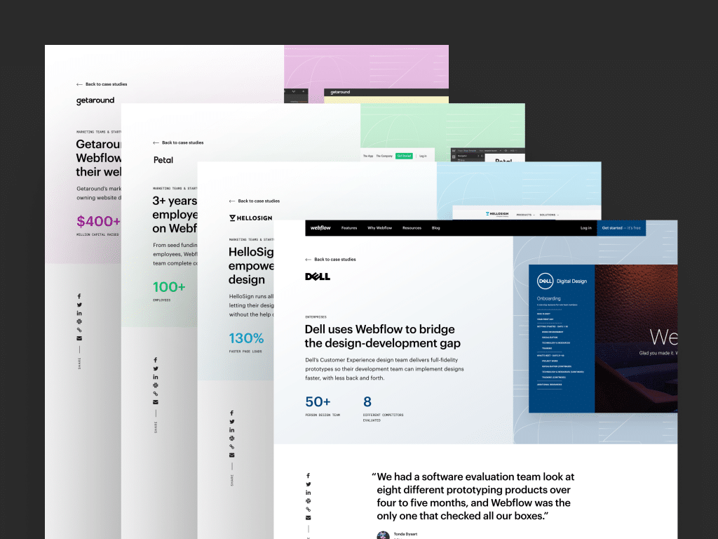 UX case study example by Johnnie Gomez on Dribbble