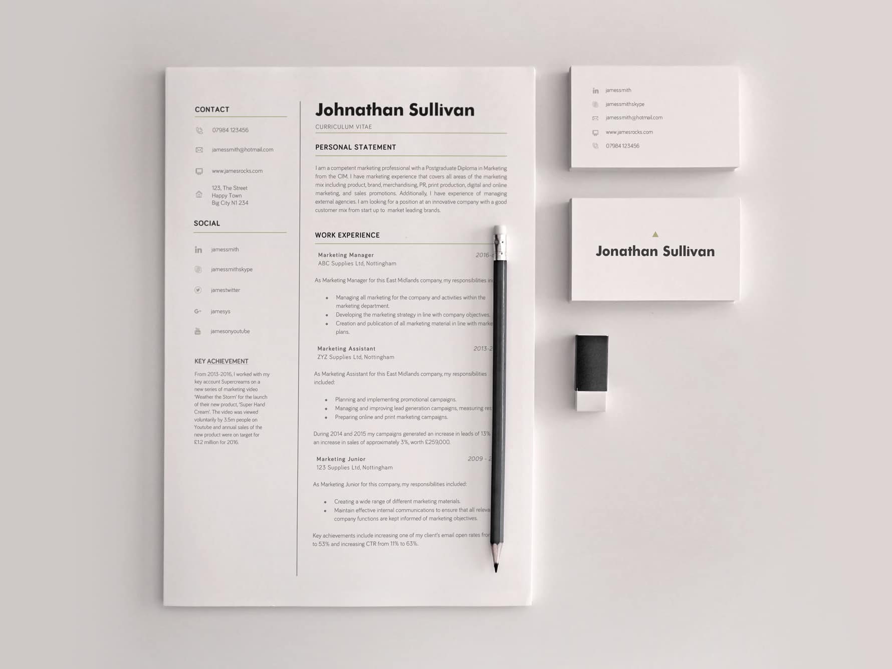 Example of a cover letter and resume by Giallo