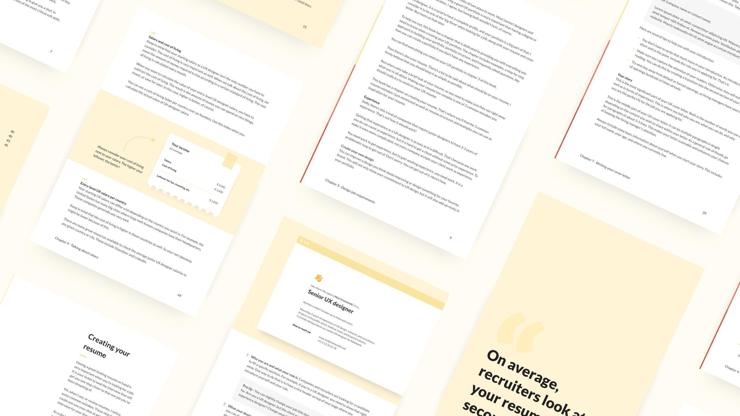 UX Jobs Handbook overview